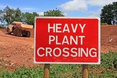Local da construção de estradas Foto de Stock