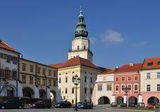 Local da herança do UNESCO de Kromeriz, praça da cidade, checa com referência a Fotos de Stock