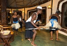 Local dance exhibitors in Tanzania, an authentic setting. Where life is wonderful Royalty Free Stock Images