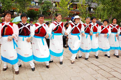Local dancers in Lijiang Royalty Free Stock Photography