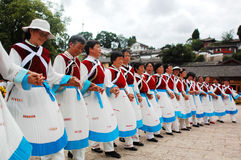 Local dancers in Lijiang Stock Photos