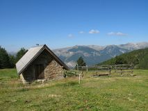 Local das cabanas dos noncières, France Imagem de Stock