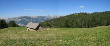 Local das cabanas dos noncières, France Fotografia de Stock Royalty Free