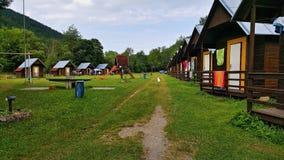 Local de acampamento de Rejstejn, Czechia Fotografia de Stock Royalty Free