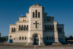 Local de Crimeia, catedral do ` s de Vladimir de Saint - símbolo de Hersones imagens de stock royalty free