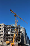 Local de demolição da construção fotografia de stock