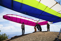 Local de Hang Glider Launch Fotografia de Stock