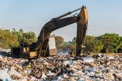 Local de operação de descarga, resíduos tóxicos fotos de stock