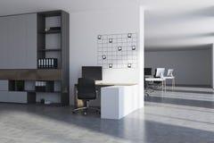 Local de trabalho branco do escritório, fotos Imagens de Stock Royalty Free