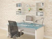 Local de trabalho conveniente do escritório Ilustração Stock