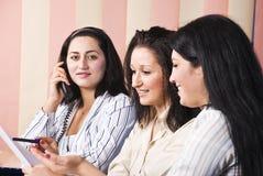 Local de trabalho das mulheres de negócio Fotografia de Stock
