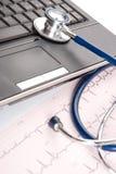 Local de trabalho do doutor - conceito médico Imagens de Stock