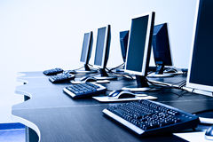 Local de trabalho dos computadores Imagem de Stock