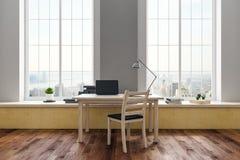 Local de trabalho no interior moderno Imagem de Stock Royalty Free