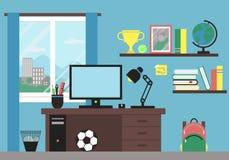 Local de trabalho no quarto Imagem de Stock Royalty Free