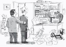 Local de trabalho novo para o recém-chegado ilustração stock