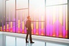 Local de trabalho, pesquisa e conceito do investimento Foto de Stock Royalty Free