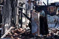 Local de um incêndio Fotos de Stock