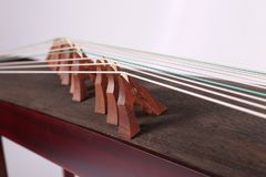 Chinese zither Local details of Guzheng Chinese folk music Royalty Free Stock Photos