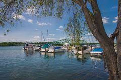 Local Detroit Marina Stock Photography