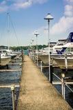 Local Detroit Marina. South Detroit river boat marina near Lake Erie royalty free stock photo