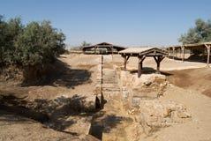 """Local do batismo """"Bethany além do al-Maghtas do  de Jordan†na margem oriental do rio Jordânia fotos de stock royalty free"""