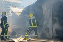 Local do fogo do restaurante de borda da estrada Fotos de Stock Royalty Free