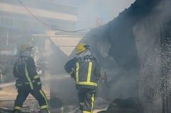 Local do fogo do restaurante de borda da estrada Foto de Stock Royalty Free