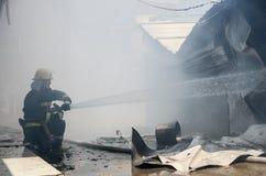 Local do fogo do restaurante de borda da estrada Fotografia de Stock