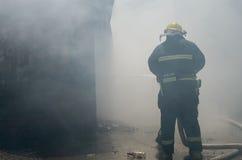 Local do fogo do restaurante de borda da estrada Imagem de Stock