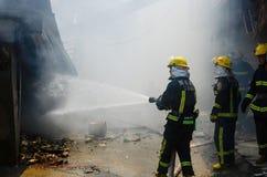 Local do fogo do restaurante de borda da estrada Imagens de Stock Royalty Free