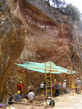 Local do fóssil de Atapuerca Fotos de Stock