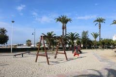 Local do jogo da areia para crianças foto de stock
