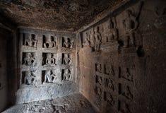 Local do patrimônio mundial do UNESCO de Ellora Caves foto de stock