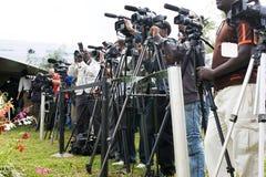 Local e imprensa internacional fotos de stock