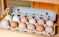 Local eggs for sale Stock Photography