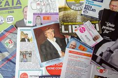Local election leaflets, Venice, Italy Stock Image