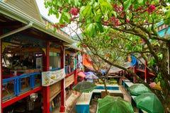 ` Local en Victoria, isla de Mahé, Seychelles de Sir Selwyn Clarke del ` del mercado imágenes de archivo libres de regalías
