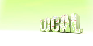 Local Enterprise. Green Enterprise with Local Community royalty free illustration