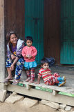 Local Family in Chin State, Myanmar Stock Image