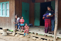 Local Family in Chin State, Myanmar Stock Photos