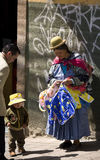 Local family - La Paz - Bolivia - South America Stock Image