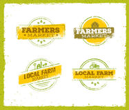 Local Farm Logo, Local Farm Food Concept, Local Farm Creative Vector, Local Farm Design Element. Local Farm Stamp Set Stock Photo