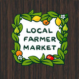Local farmer market, farm logo design Royalty Free Stock Photography