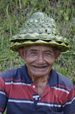 Local farmer in Rice Terrace in Bali Asia Indonesia Royalty Free Stock Photography