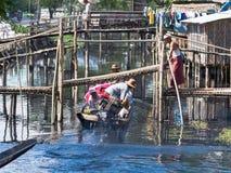 Local ferry in Maubin, Myanmar Stock Photos