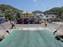 A local ferry at port elizabeth bequia. Royalty Free Stock Photography