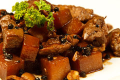 Local Filipino food - Pork Adobo Stock Photo