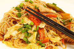 Local Filipino Food - Stir Fried Pancit Noodles Royalty Free Stock Photos