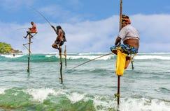 The local fisherman fishing in Galle, Sri Lanka Royalty Free Stock Image